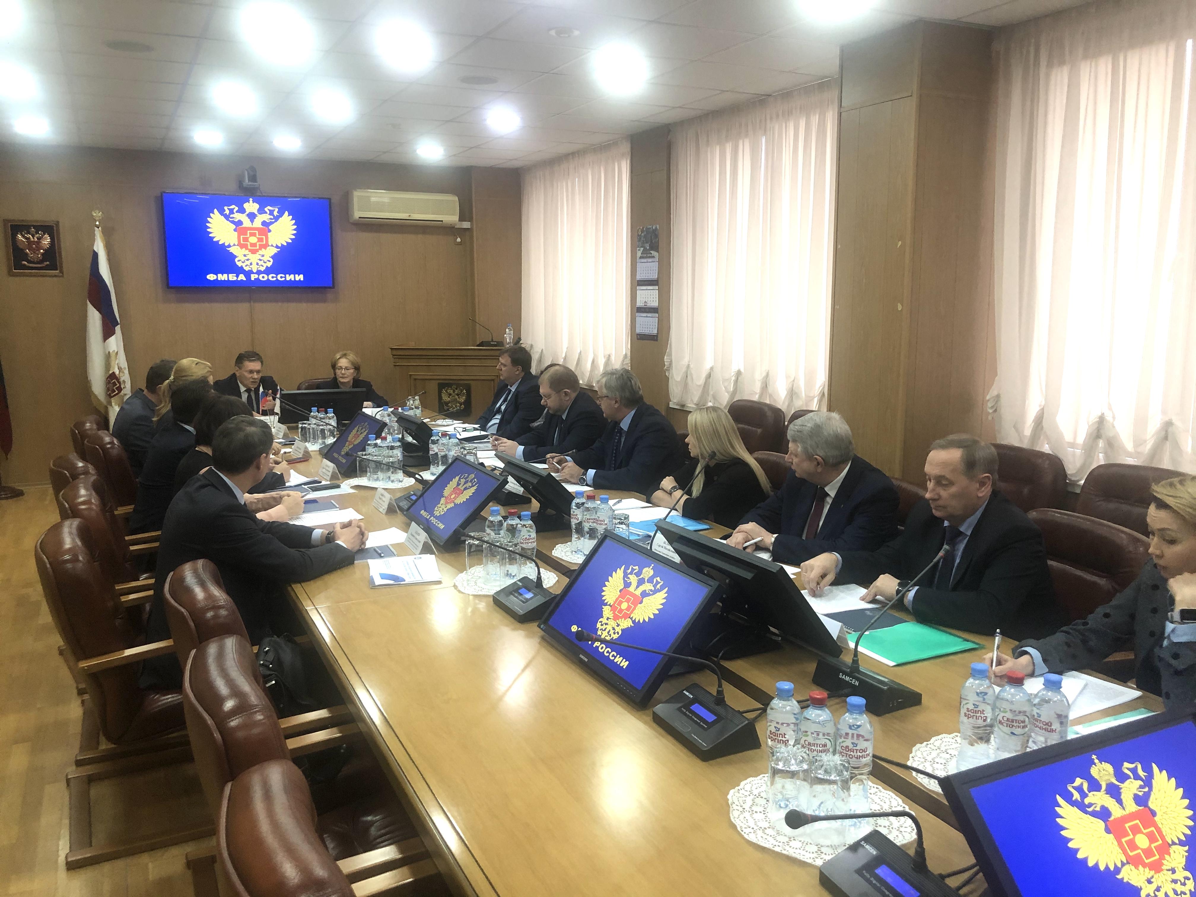 В ФМБА России состоялась двухсторонняя встреча специалистов Федерального медико-биологического агентства и центрального аппарата Госкорпорации «Росатом»
