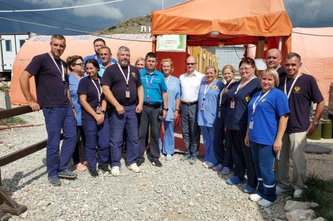 Сводный отряд ФМБА России обеспечил медицинскую безопасность участников Фестиваля «Таврида – АРТ»